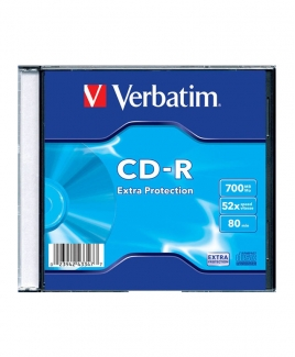 Verbatim CD-R (700MB) 52x [Slim Case]